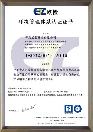 ISO: 14001 environmental management system certificate